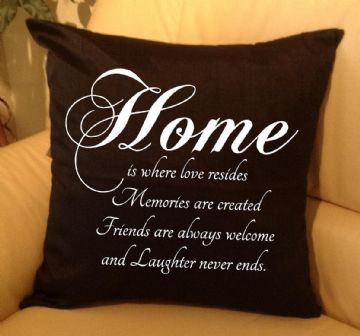 Home is where... text pillow, sofa cushions (1)